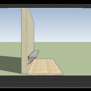 ספסל / מיטה מתקפלים למרחב מוגן